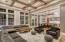 Main Living Area and Open Floor Plan featuring Coffered Ceilings