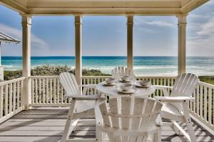 Dining on the upstairs Gulf Front Porch