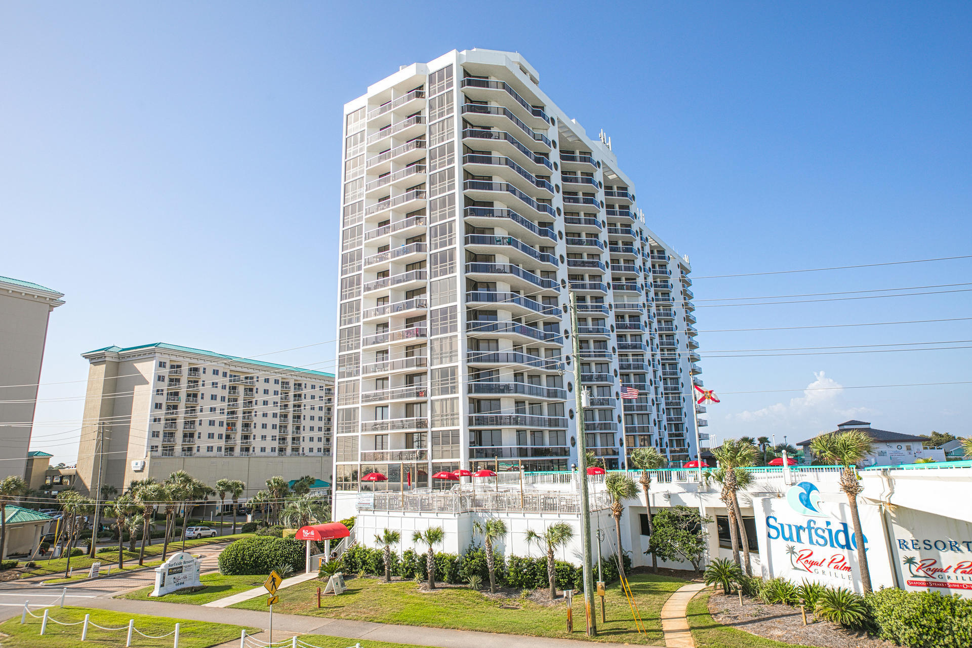 Fabulous views!!  Located on the 14th floor of the iconic Surfside building in Miramar Beach, this condo is definitely worth seeing!  Features 2 bedrooms and 2 full bathrooms with a split floor plan.  The Murphy bed is a great bonus for extra guests.  This property is offered fully furnished and has been very well maintained.  It would make for a great primary residence, second home, or excellent investment property. Surfside is located in Miramar Beach on Scenic Highway 98. Breathtaking views of the white sand beaches and emerald green waters can be enjoyed from the huge outdoor balcony. And there is a private walkover to the beach from the Surfside pool deck area. Surfside has a tremendous reputation and a track record for retaining repeat guests. Surfside amenities also include the Royal Palm Grille restaurant, covered parking garages (one for owners and one for guests), large pool deck with heated pool, sauna, fitness center, lighted tennis courts, basketball, shuffle board, pool side Tiki Hut/beach bar, and spa and hair/nail/facial salon.  The Silver Sands outlet malls, and many restaurant options are just a few minutes away.  If you are looking for a wonderful condo option right in the heart of it all in popular Miramar Beach, look no further! Please call today!