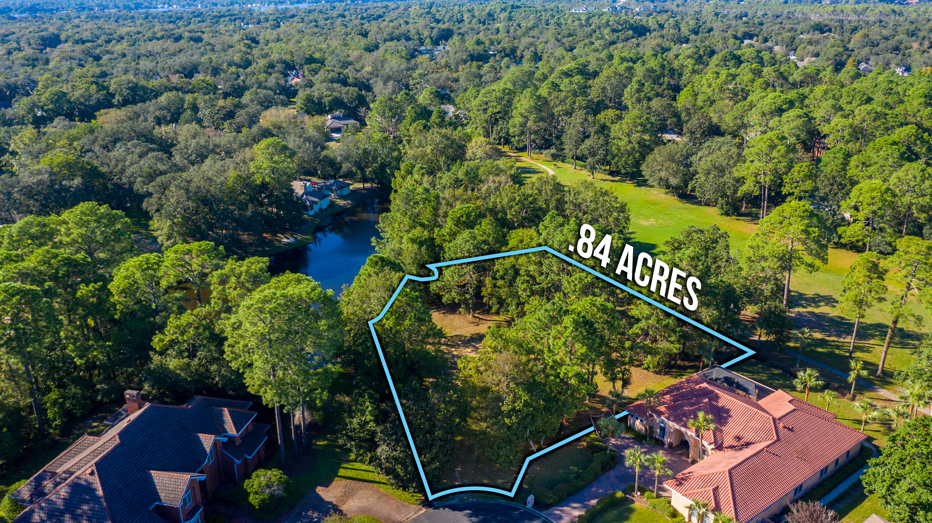 One of the few remaining home sites in the beautiful development of Bluewater Bay. Bluewater Bay is nestled along the beautiful Choctawhatchee Bay, just 15 minutes via the Mid-Bay Bridge from Destin's famous white sand beaches. This premium lot sits in a quiet cul-de-sac with beautiful homes on both sides of it.  This lot offers .84 acres and has a lake on one side and the golf course on the other side. Bluewater Bay offers a Tennis Center, 120 slip full-service marina, biking, hiking trails, 3 swimming pools, play areas and casual dining.  Within minutes you have banks, grocery stores, medical facilities, and shopping.  Build your dream home today!