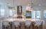 Large Kitchen Island with Designer Pendant Lighting (Kelly Wearstler)