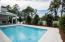 Salt Water Pool and outdoor Living Space - with FireRock Pavers