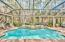 Screened pool and lanai surrounding by untouched nature preserve