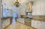 Gourmet Kitchen With Viking Range and Convection Microwave