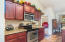 Smooth top range with built-in microwave -- all stainless steel appliances