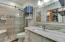 Bath with custom shower