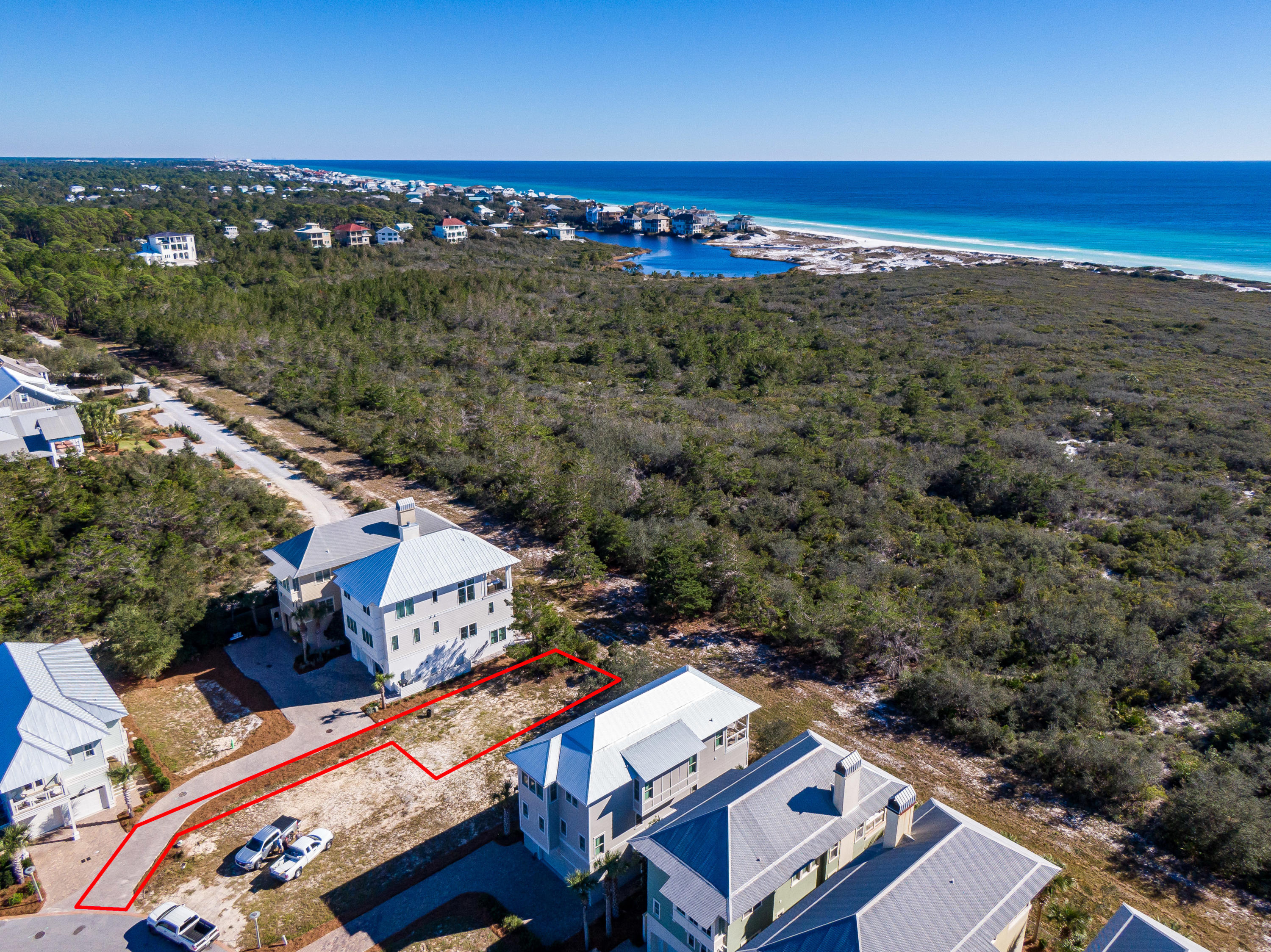Lot 19 Cypress Dunes Aerial Marked-1