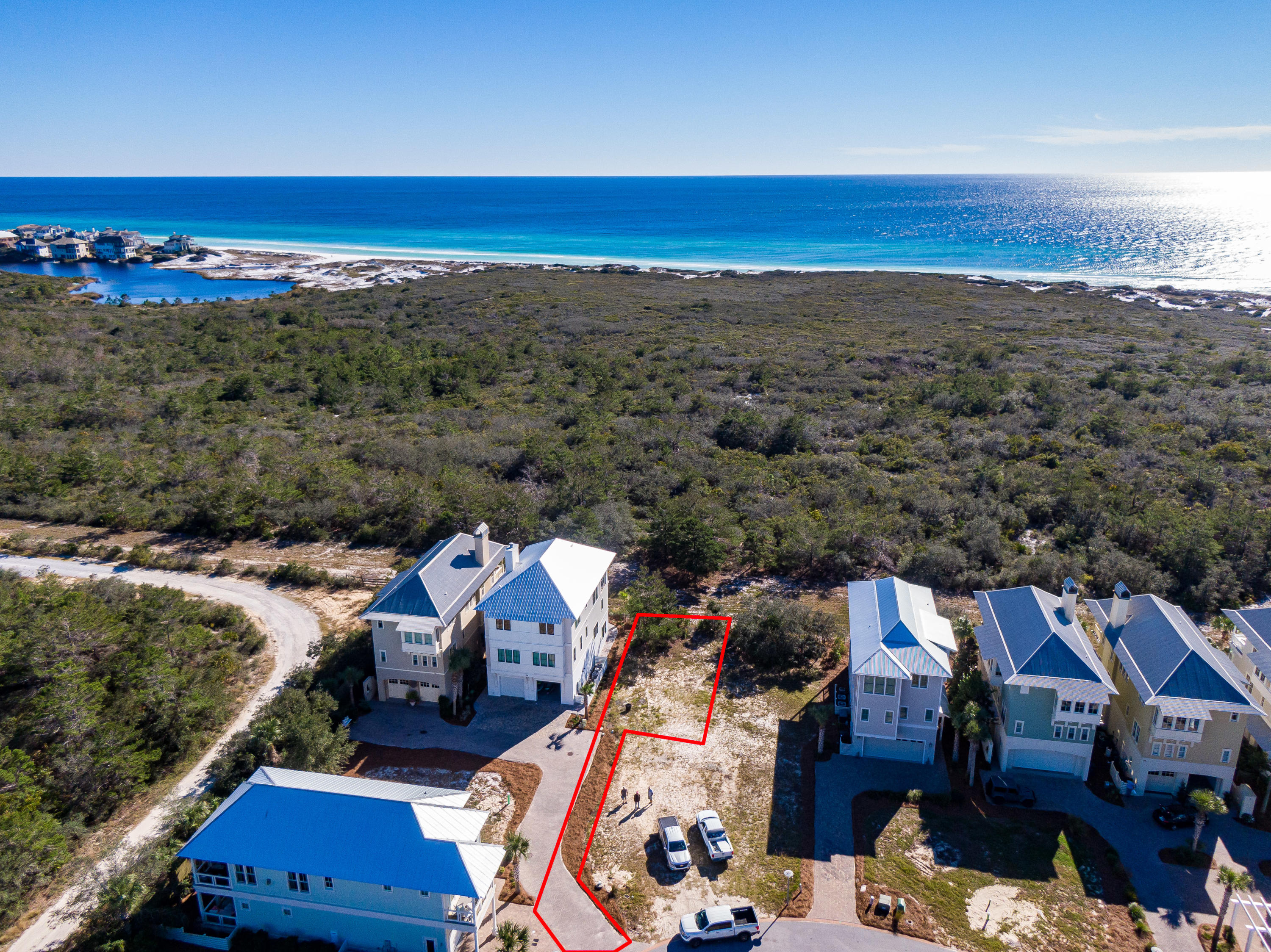 Lot 19 Cypress Dunes Aerial Marked-2