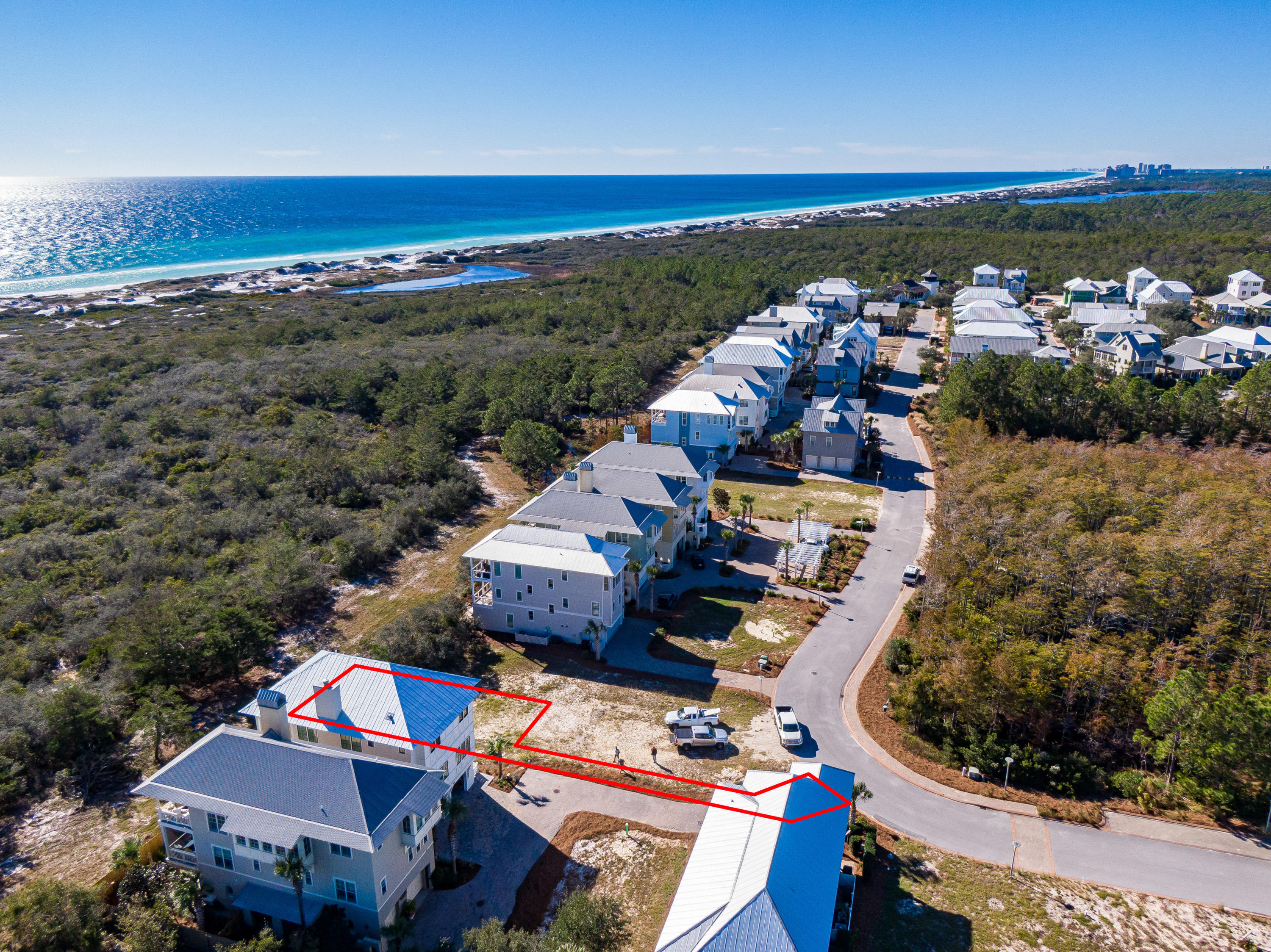 Lot 19 Cypress Dunes Aerial Marked-3