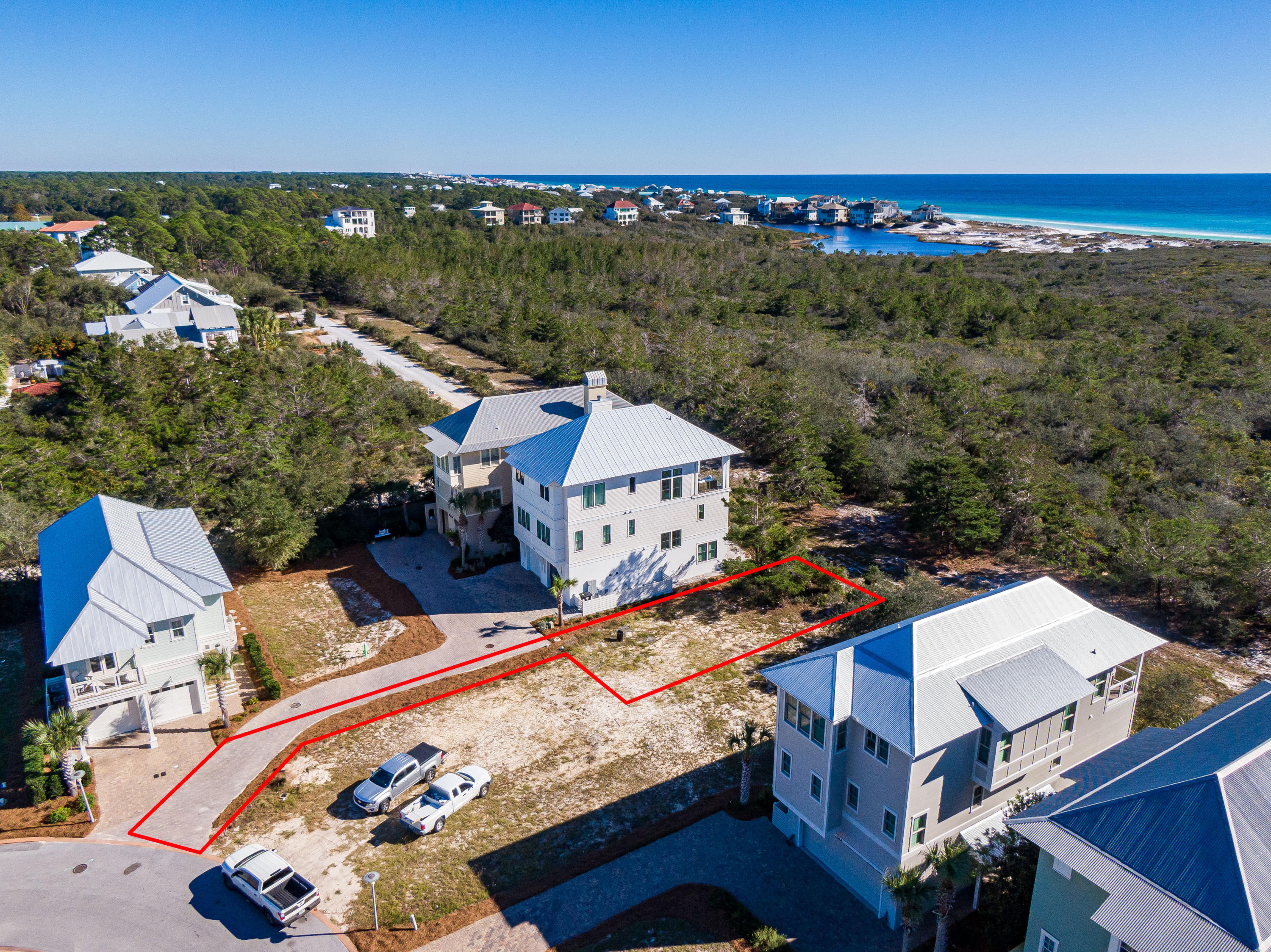 Lot 19 Cypress Dunes Aerial Marked-4