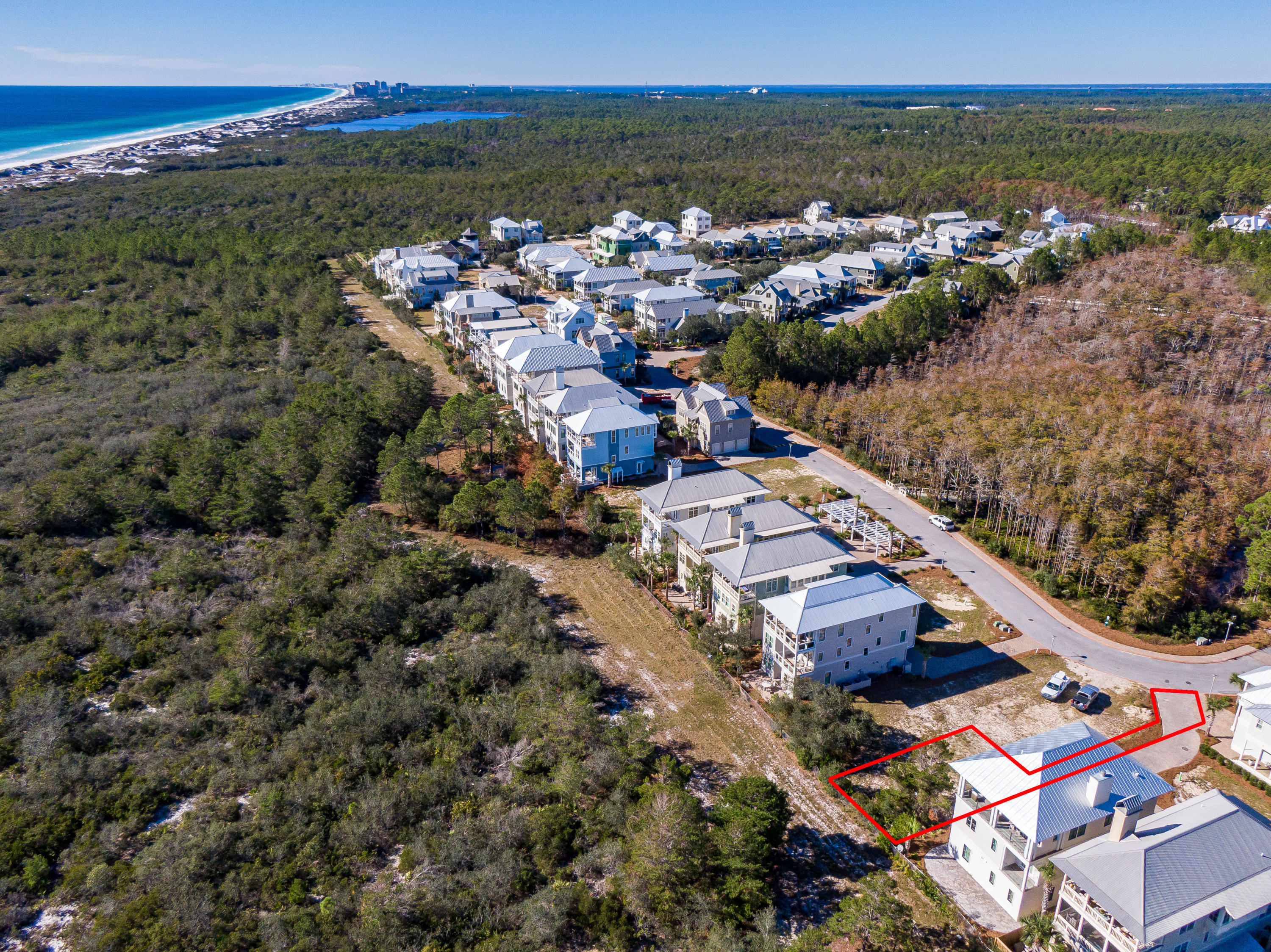 Lot 19 Cypress Dunes Aerial Marked-6