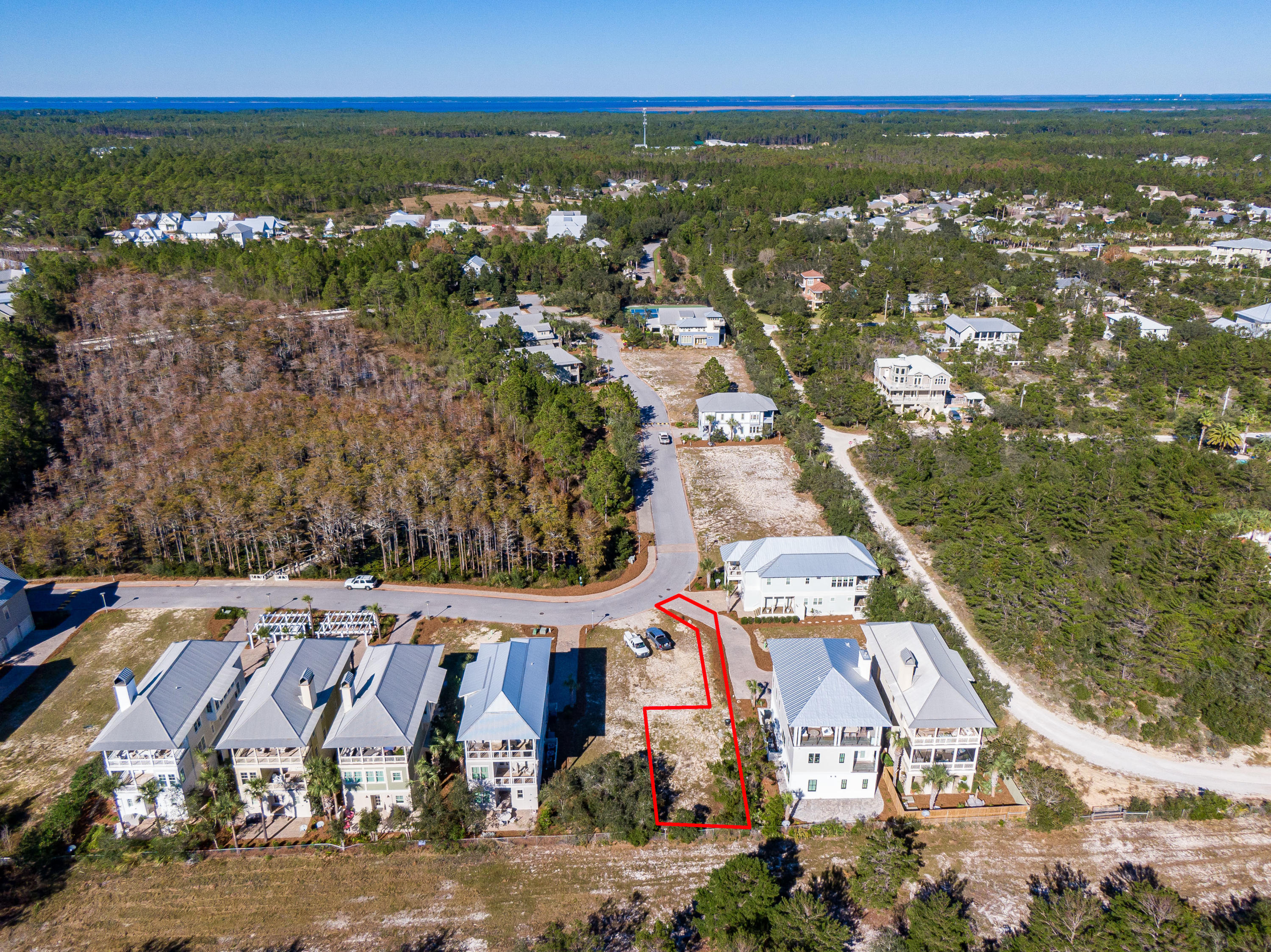 Lot 19 Cypress Dunes Aerial Marked-7