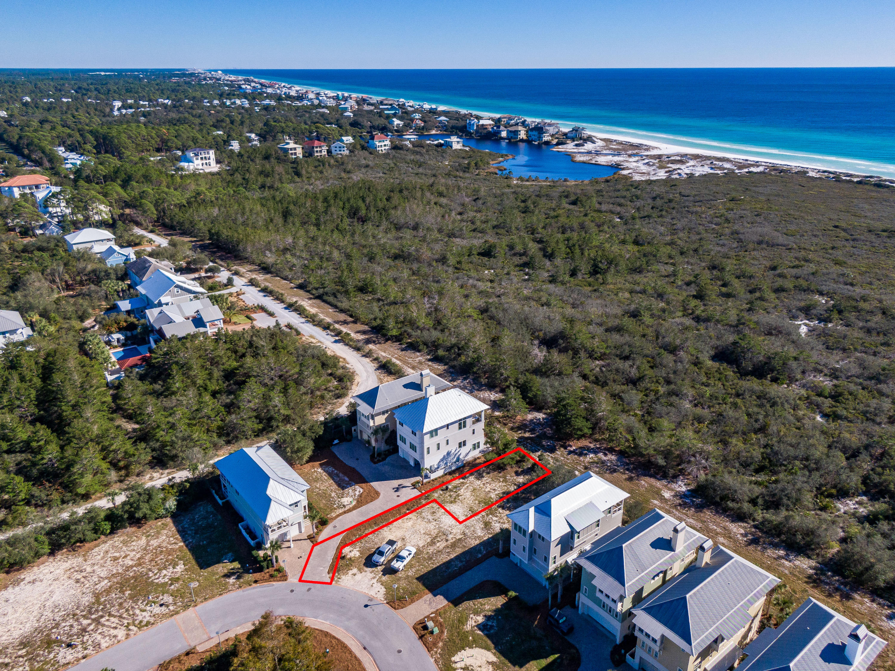 Lot 19 Cypress Dunes Aerial Marked-9