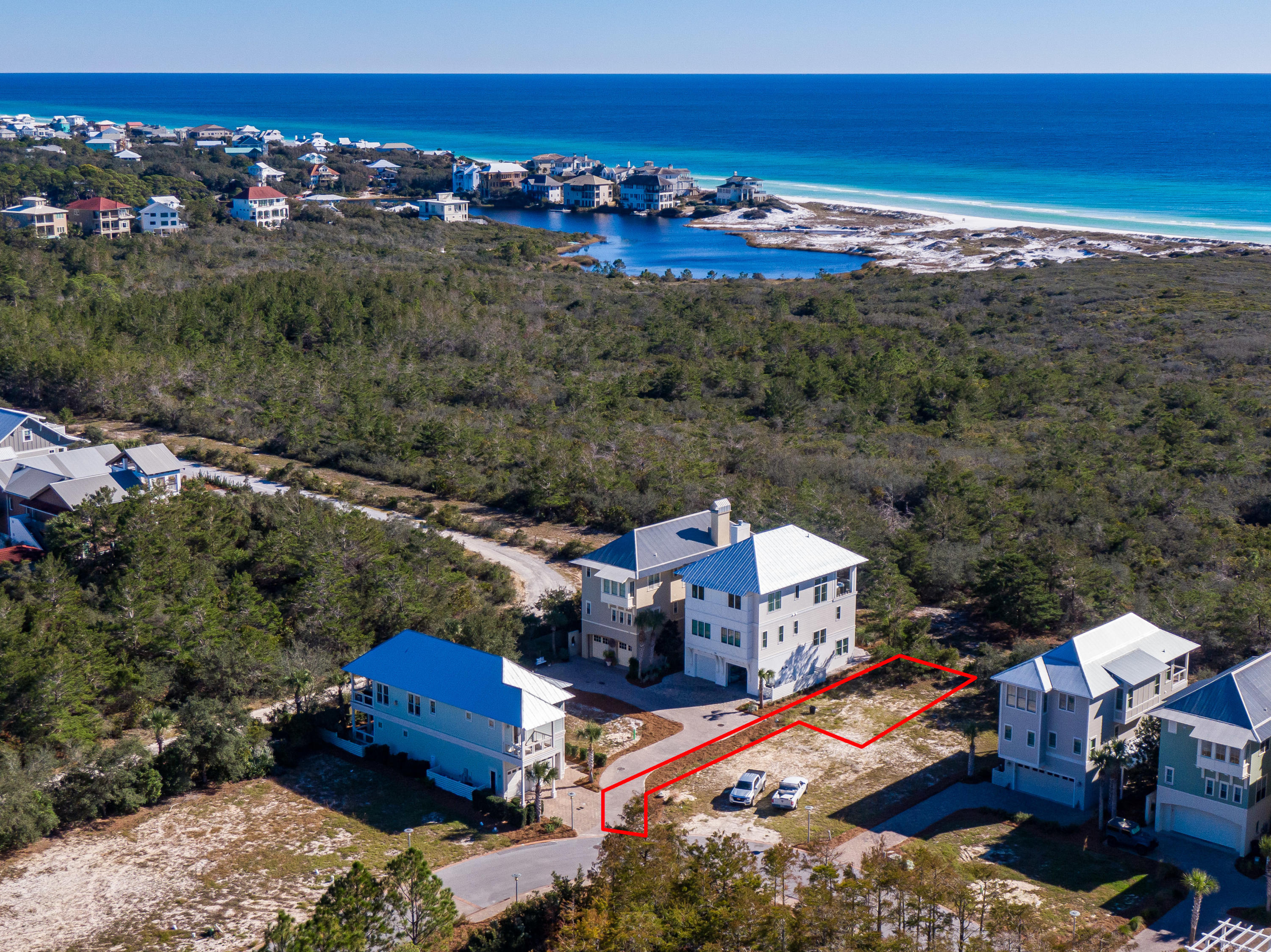 Lot 19 Cypress Dunes Aerial Marked-10