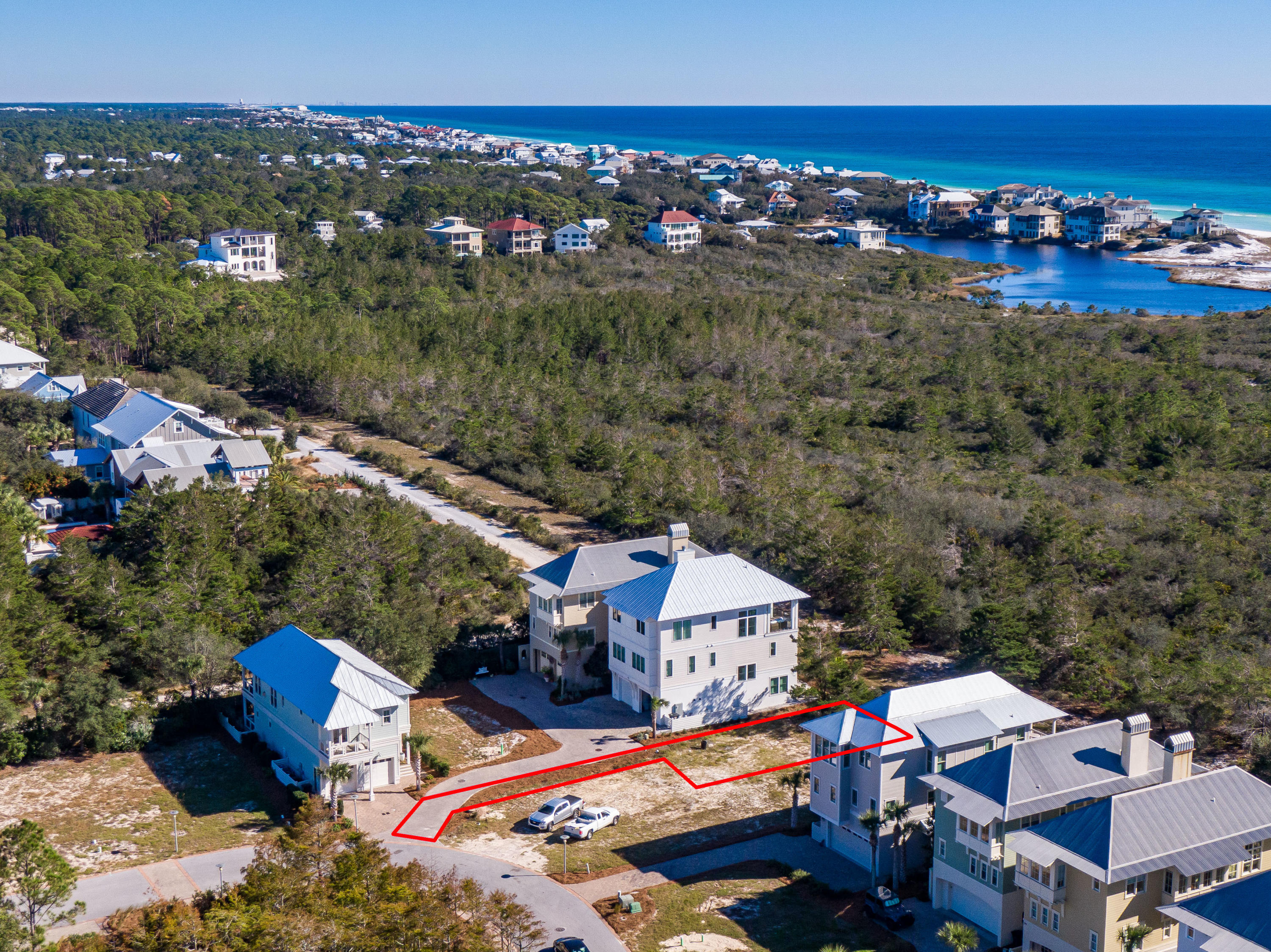 Lot 19 Cypress Dunes Aerial Marked-11