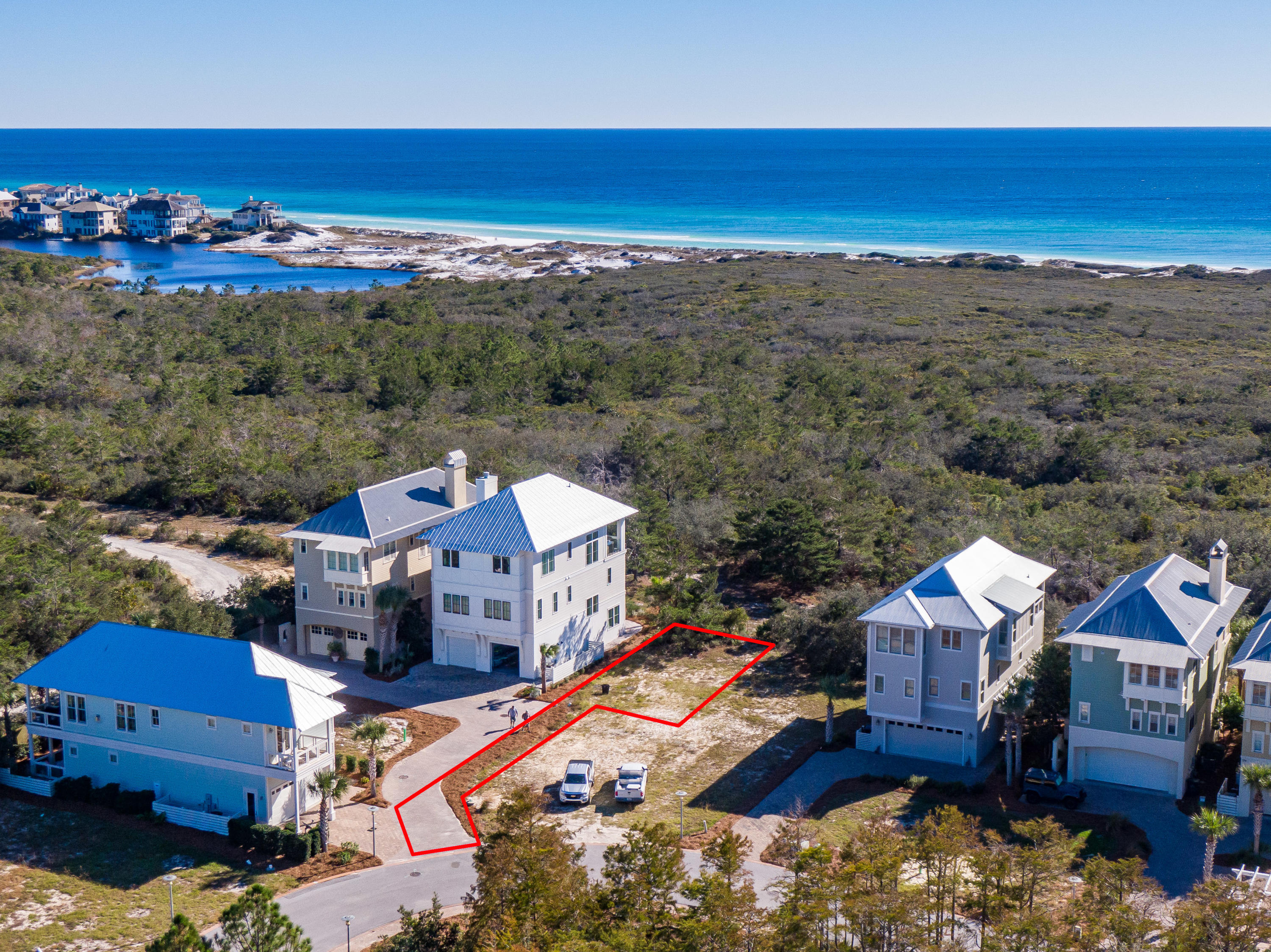 Lot 19 Cypress Dunes Aerial Marked-12