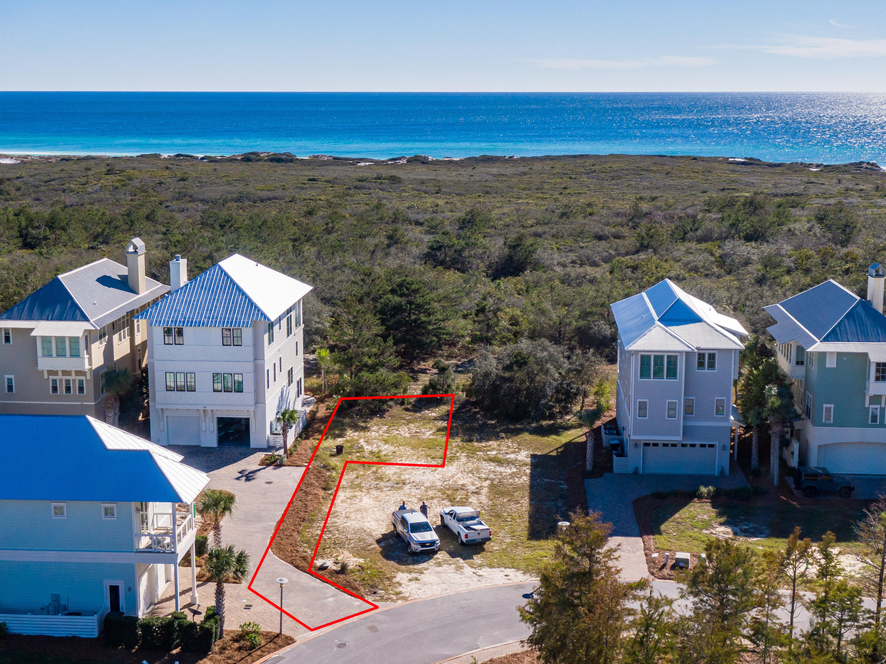 Lot 19 Cypress Dunes Aerial Marked-13