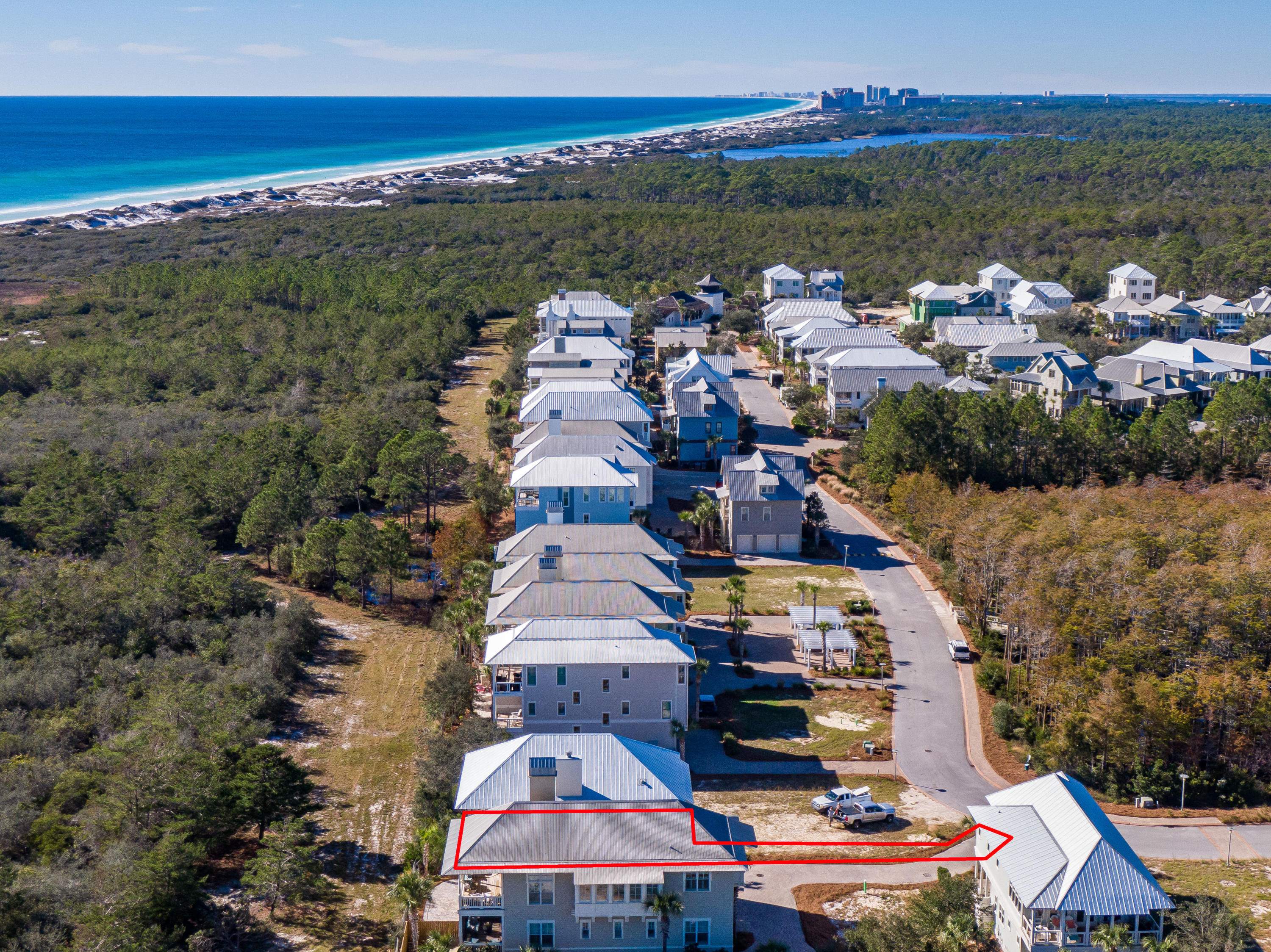 Lot 19 Cypress Dunes Aerial Marked-14