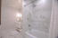 UPSTAIRS HALL BATH WITH TUB SHOWER