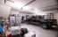 OVERSIZED 2 CAR GARAGE IS DEEP ENOUGH FOR A LARGE TRUCK OR SUV
