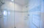 Beautiful renovated shower in master bath.