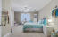 Upstairs bedroom with adjoining bathroom