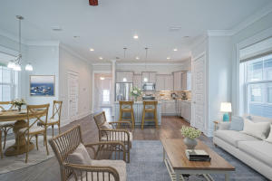 Family Room, Dining Room, Kitchen view.