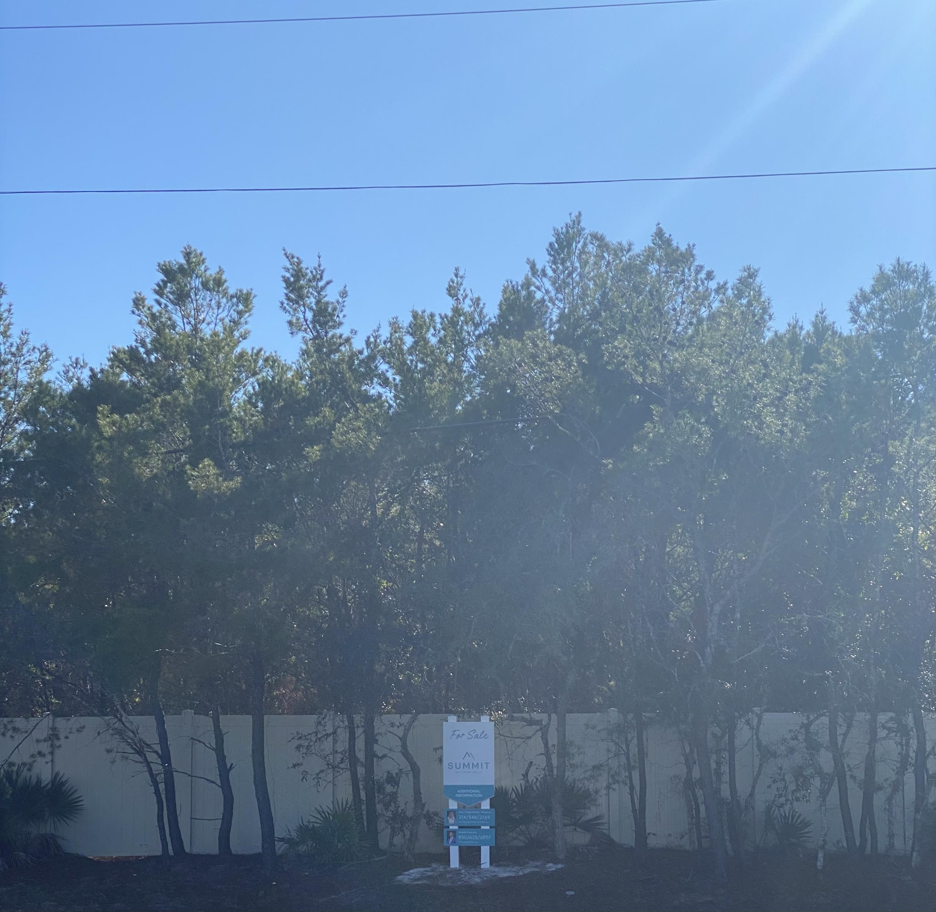 View of lot from 30A
