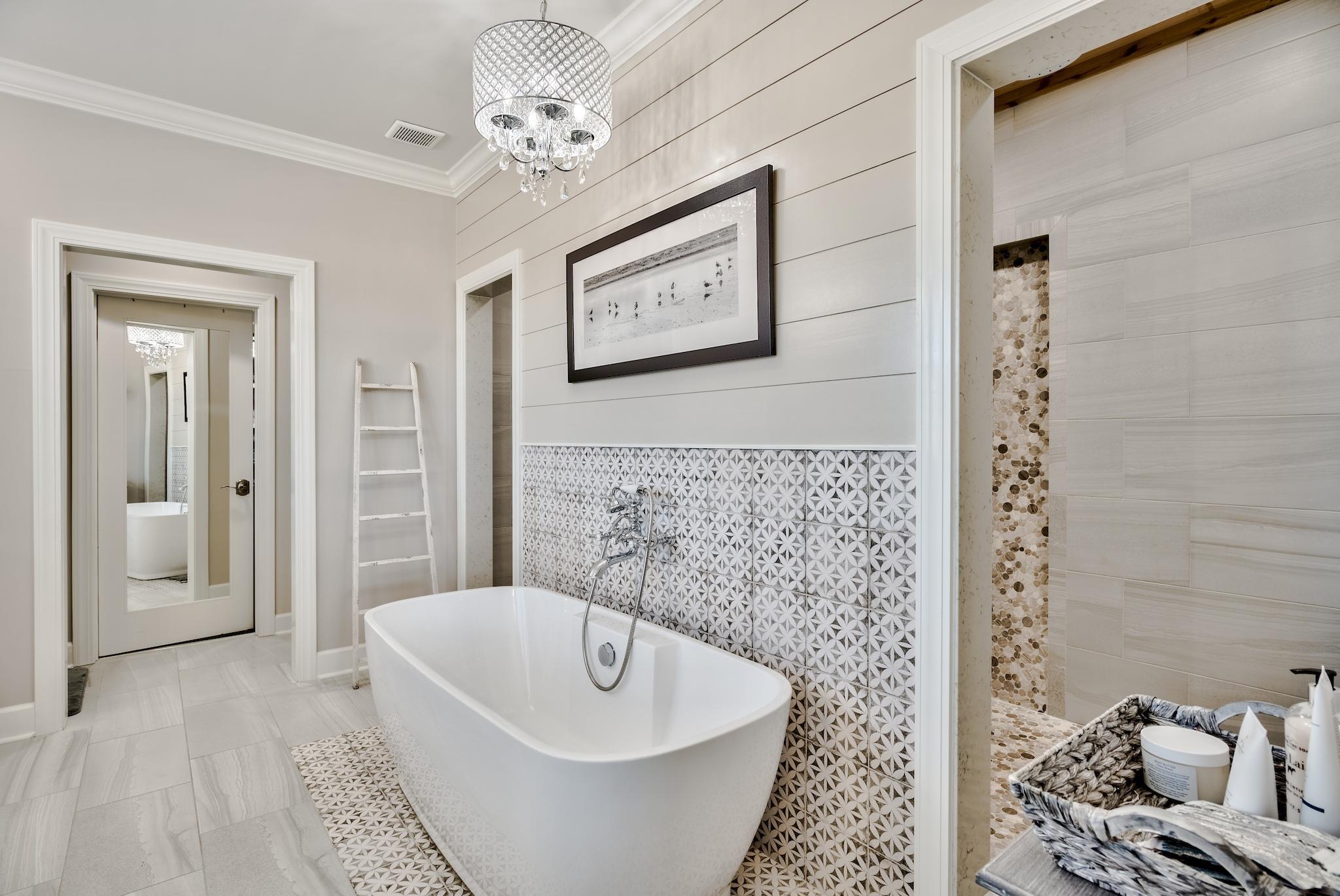 Master Bath w Tub & Walk-through Shower