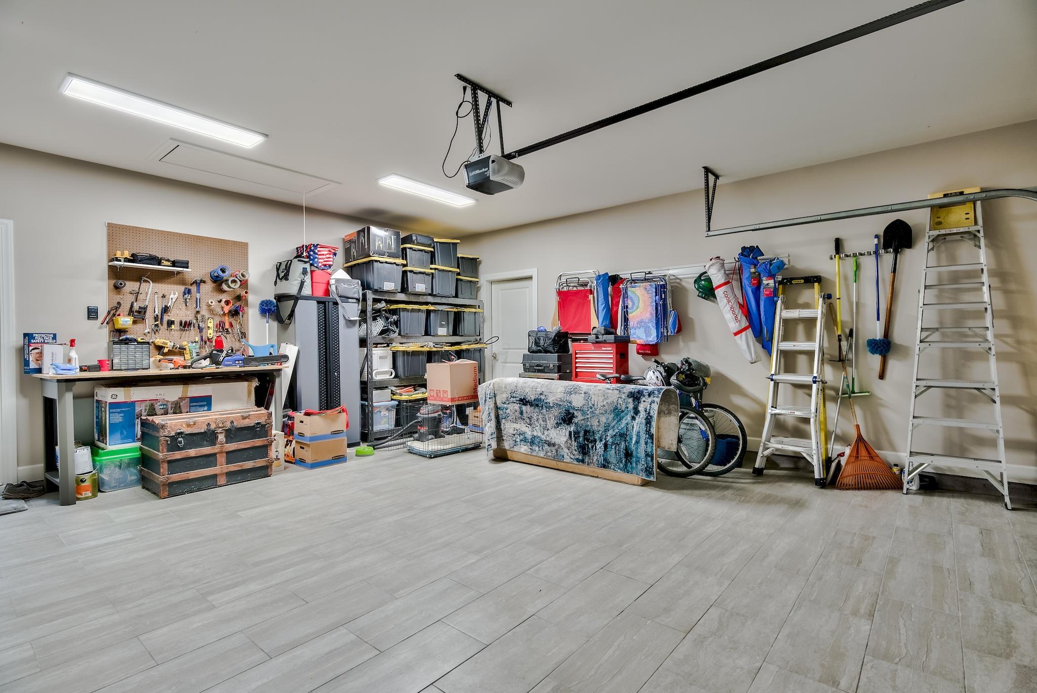 Tiled Two Car Garage