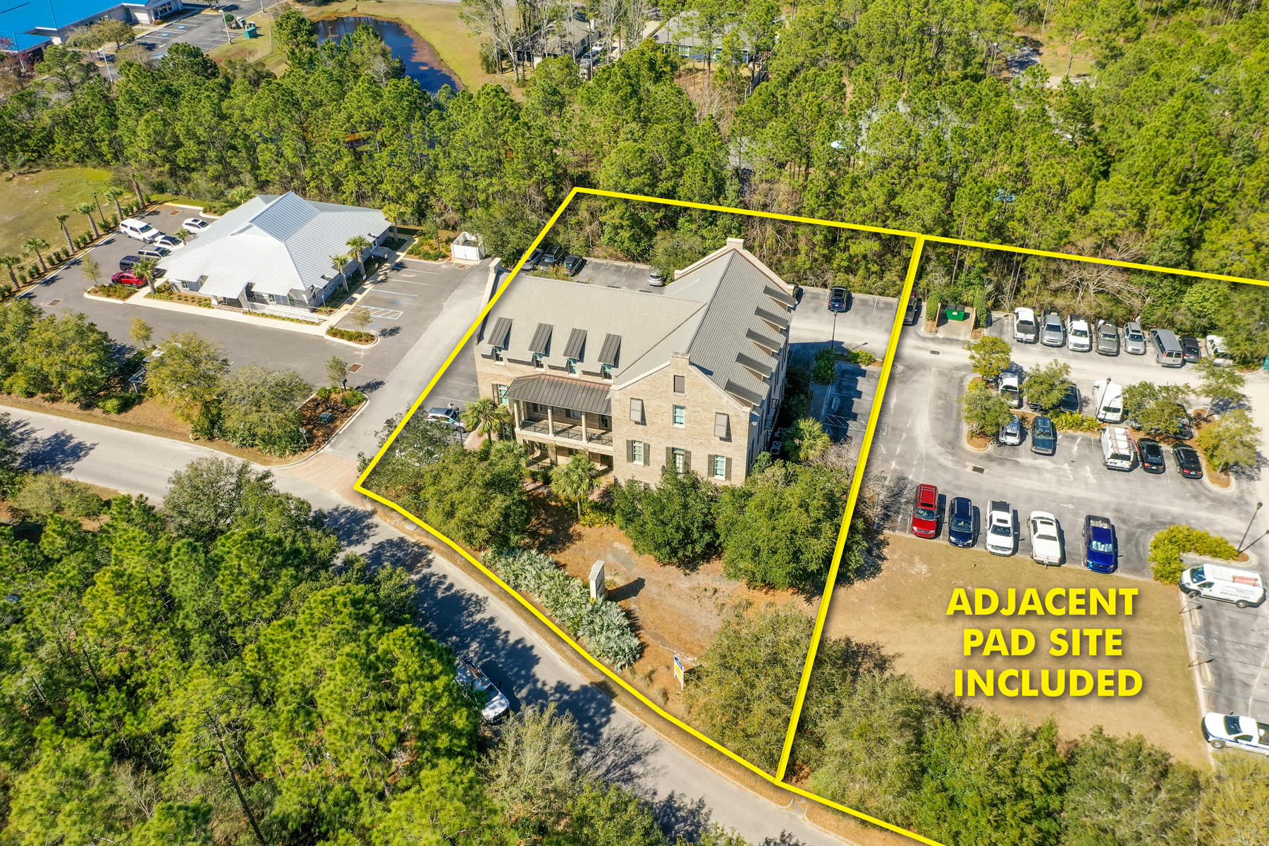 This property exhibits a very impressive image, with an exceptionally high level of interior and exterior finish. Medical and professional office users of this Class A building will enjoy the convenience to Sacred Heart Hospital of Santa Rosa Beach, as well as the Grand Boulevard and Publix area shopping centers around Sandestin Golf & Beach Resort. The building is of solid construction integrity and meticulously maintained.  The adjacent, contiguous lot is included in this list price that offers a nearly ''build-ready, pad site'', which will accommodate an approximate 7,500+ SF, two story building.