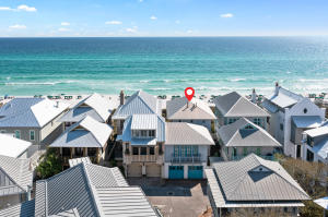 Aerial View of Home - Overlooking the Gulf at Rosemary Beach