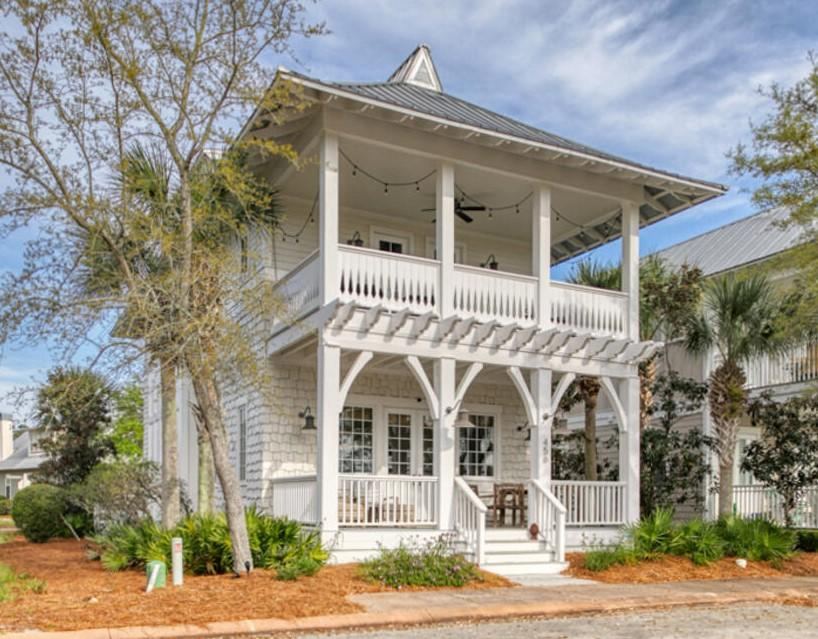 CHARMING EXTERIOR!! This home has 4 balconies to enjoy nature and the Gulf breezes. The spacious living/dining/kitchen area were built for entertaining. There are 2 master suites/bathrooms in this home.. The secondary bedrooms each have their own bathroom and overlook the State Park. In addition to the 4 bedrooms, there is a loft area with 2 beds and a den/game room/TV area. This home has views of the community Green Space. This home is in the amazing Cypress Dunes subdivision, located on the West end of 30A (south side).  This home is conveniently located just down the street from the pool and amenity center. Cypress Dunes is a gated community that borders Topsail Hill State Park and Preserve. The community has 2 pools with one being a large infinity edge which overlooks the Gulf of Mexic