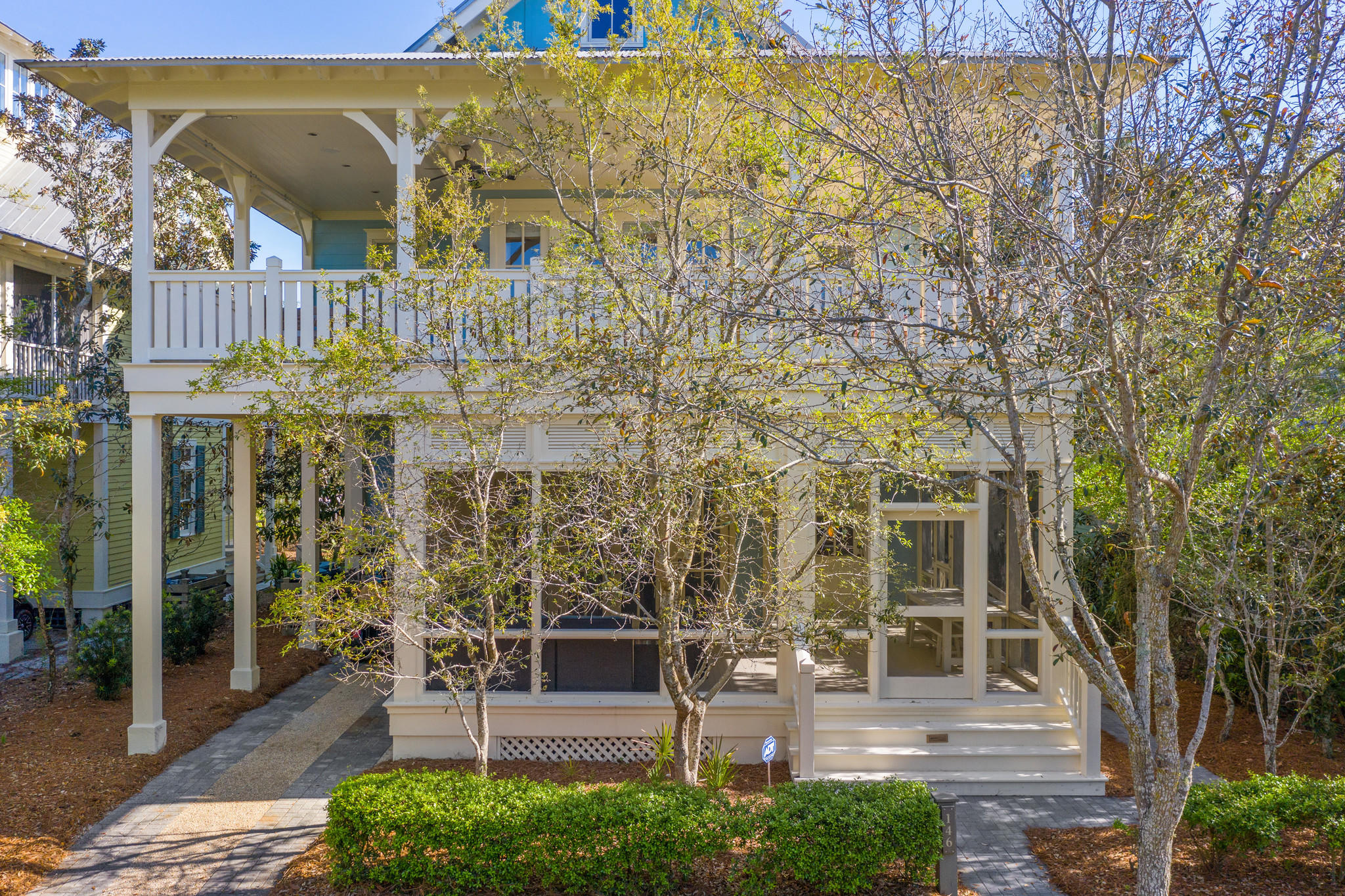 BEST LOCATION IN WATERCOLOR! Two blocks from the beach on a quiet street, overlooking tree-lined streets of Seaside, and a 360 view of Watercolor, Seaside, and most importantly, expansive views of the GULF! Featuring 5 bedrooms, 5 1/2 baths, a media room, an office, wet bar, and multiple large and cozy porches, a private back deck with gas fire pit and grill, and THE ultimate ROOF TOP PATIO perfect for sunrise, sunset parties and everything in between.  Watch boats come in, fireworks all the way from PCB to Destin....the VIEW is THAT spectacular.  One of the highest rooftops in all of Seaside or Watercolor! This house has never been rented, one owner, however, the rental properties on this street command some of the highest rents in Watercolor. This home comes furnished (See list of Exclusions), all the interiors are new and pristine! The interiors were designed by Beau Interiors. The kitchen is a masterpiece, with a commercial size Subzero frig, Wolf cooktop and oven, and island that seats 7. The cabinets are custom-made in England by Smallbone of England. Both the living and dining spaces are large and accommodate a crowd. There is a downstairs king size bedroom and bath, large laundry room. New Pella windows, renovations to the Kitchen & Baths and flooring in 2019,  HVAC replaced in 2019 and more!  Buyer to verify all data and dimensions.