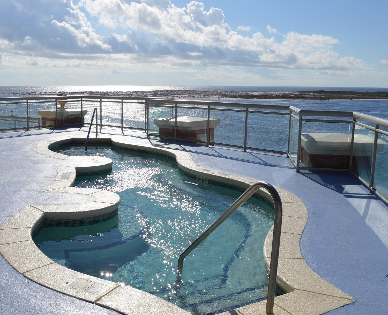 Adults Only Hot Tub on Sunset Deck