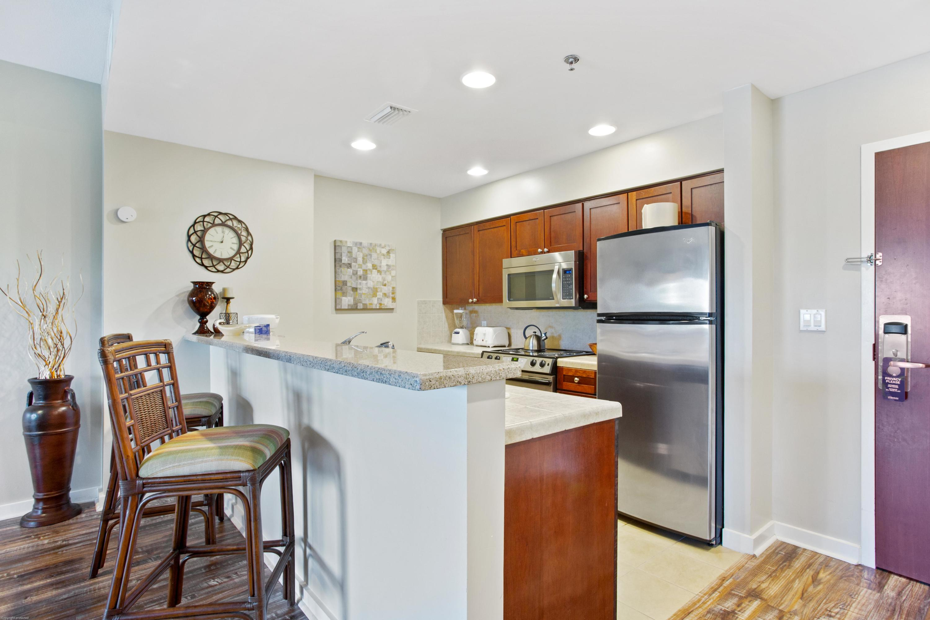 Listen to the sounds of the grotto waterfall from this 1-bedroom condo overlooking the Luau pool. Co