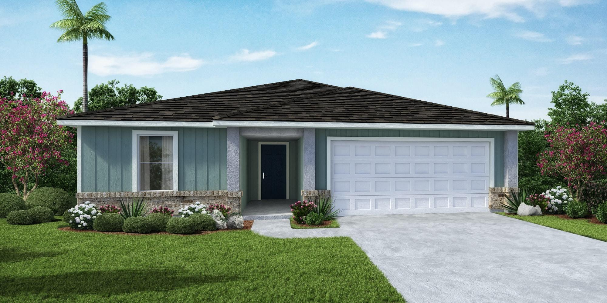 Sage 3 Bedroom, 2 Bath, 2 Car Garage with 1882 Square Feet. Home has Large Owners Suite and Owners Bath