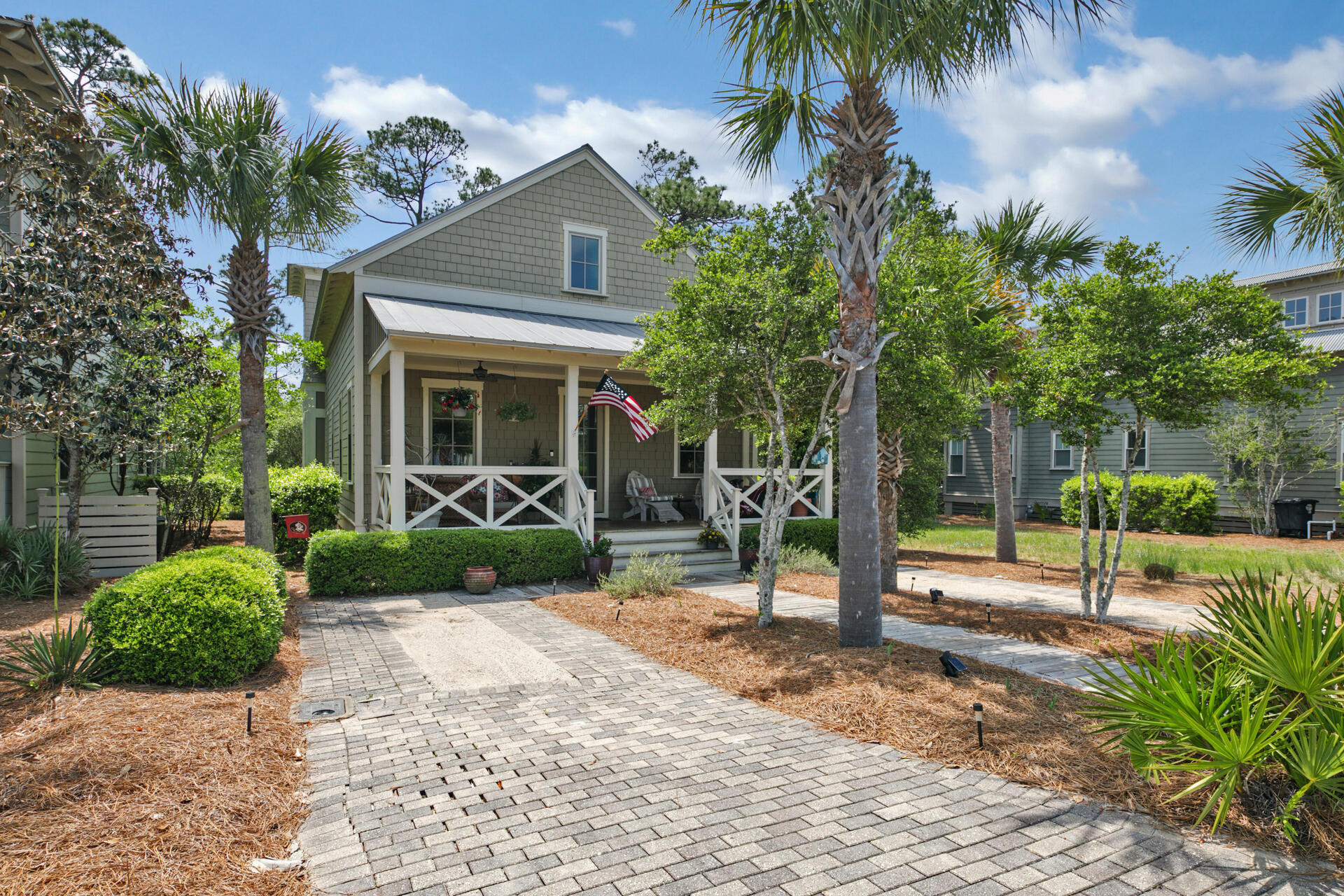 This fully furnished home is in the amazing Cypress Dunes subdivision, located on the West end of 30A (South side). you will be welcomed into this 1,988 sf cottage by the oversized covered Southern front porch. It features a large open floor plan with vaulted ceilings. The spacious kitchen has plenty of room to prepare delicious meals for your family.  There is a laundry room and pantry just off of the kitchen. Downstairs you will find 2 guest bedrooms with attached bathrooms. The hallway that separates the bedrooms opens up to the large screened porch with ample seating. From there you can enjoy the Cypress pond and all of its wildlife. Upstairs is a large Master suite with a loft area for relaxing or reading a book. From the private Master balcony, you can feel the Gulf breezes with views of the Cypress pond. Cypress Dunes boasts a wonderful amenities center complete with a chefs kitchen and large TV for parties and entertaining. Cypress Dunes has tennis courts, a pickleball court, an exercise room, an outdoor fireplace, and a green space for families and pets. Cypress Dunes has an infinity edge pool that overlooks Topsail Hill State Park and the Gulf of Mexico. The neighborhood has a second smaller pool with a beautiful fountain. There are walking trails and boardwalks that meander over the beautiful 200 year old Cypress ponds. This home has a built in natural gas generator and plenty of storage.  The HOA provides property landscaping, security and an on site property manager.