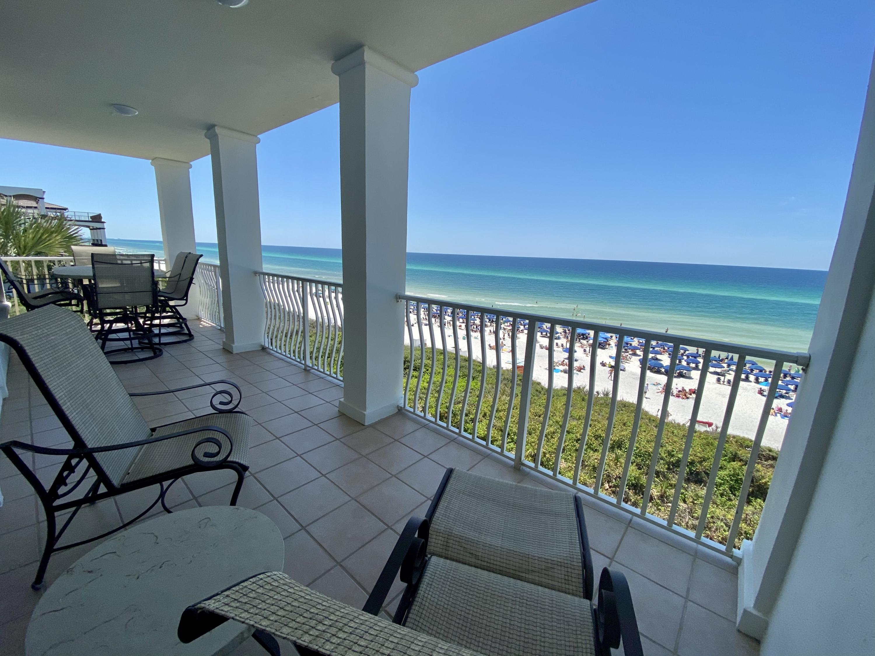 SPECTACULAR GULF FRONT CONDOMINIUM located in the highly sought after community of THE VILLAS OF SUNSET BEACH. Situated along the East end of Scenic highway 30-A, between Rosemary Beach and Alys Beach, this 3 bed/3bath condo offers a spacious layout with breathtaking views of the Gulf of Mexico. A large living space fronts the Gulf and steps out on to an oversized balcony for endless enjoyment of captivating Gulf views. Ideal as a vacation home or an investment property, you and your guests will be immersed in a world of luxury and comfort. This gated community offers 24 hour guarded security, a beautiful private Gulf front pool, and private beach access.This unit has never been rented. All 3 buildings have new roofs post Hurricane Michael. Entire building exterior was painted in 2020. French doors accessing the spacious deck overlooking the Gulf of Mexico recently replaced. (Deck size is 27 x 8) Brand New HVAC March 2021. Fresh paint throughout. Turn Key ready!!! Come find your perfect place in the sun!