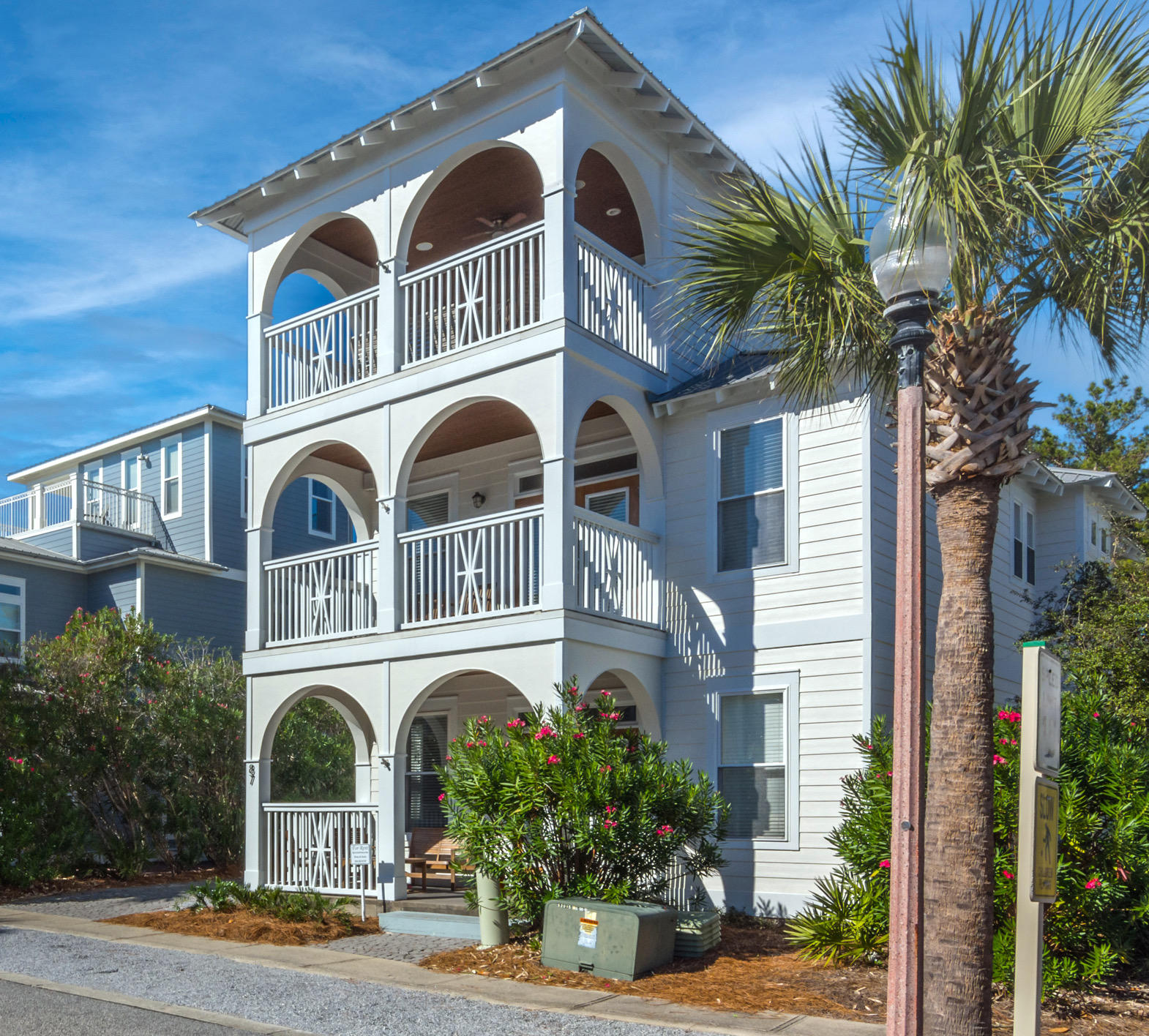 Newly remodeled luxury home with prime location in Seacrest Beach! Top Rental Performer with $109,730.50 in 2021 year to date revenue on the books with future reservations transferable. Under 5 min walk to Rosemary, Seacrest Pools, Alys Beach, Private deeded beach access, Seacrest Pavilion and restaurant/shops. There is also a free tram to the pools and beach access with a stop right in front of the house. This spacious 4BD/3.5BA home comfortably sleeps 15 people. Updates include new interior and exterior paint, new 2nd/3rd floor HVAC unit, new oversized washer & dryer set, new Bosch dishwasher, new Kitchenaid microwave range vent, all-new bathroom lighting, four new queen beds, living room sofa & chairs and outdoor dining set. The interior features include abundant (see more)