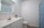 Master bathroom with update floor.