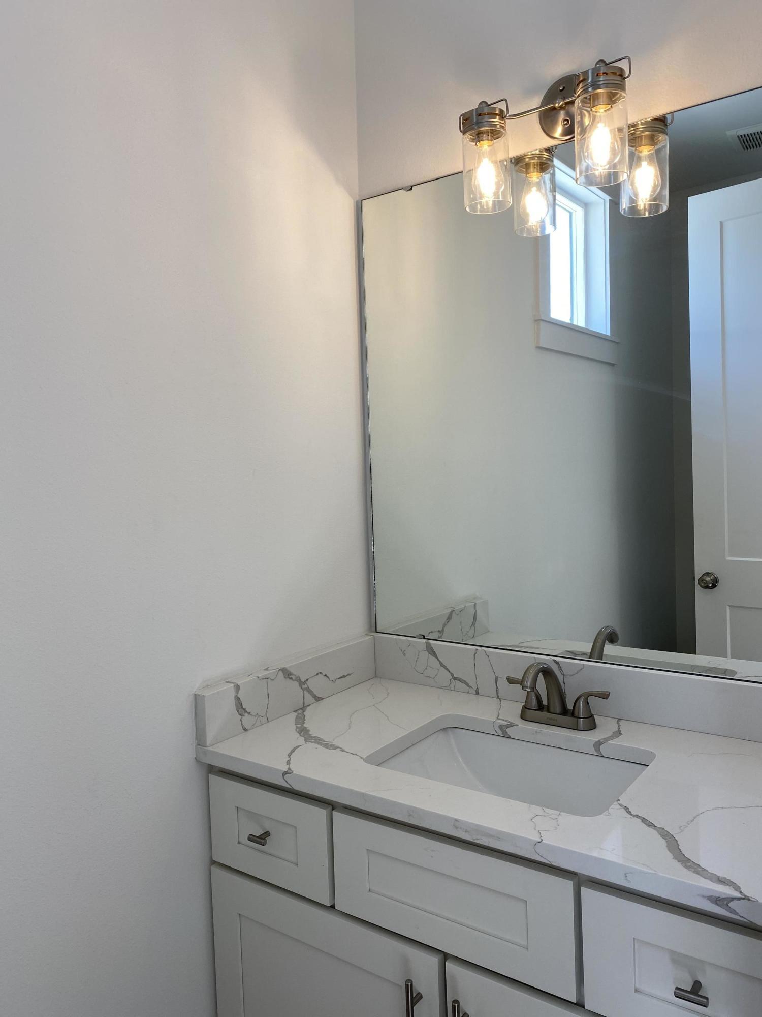 Half Bath on Living Floor