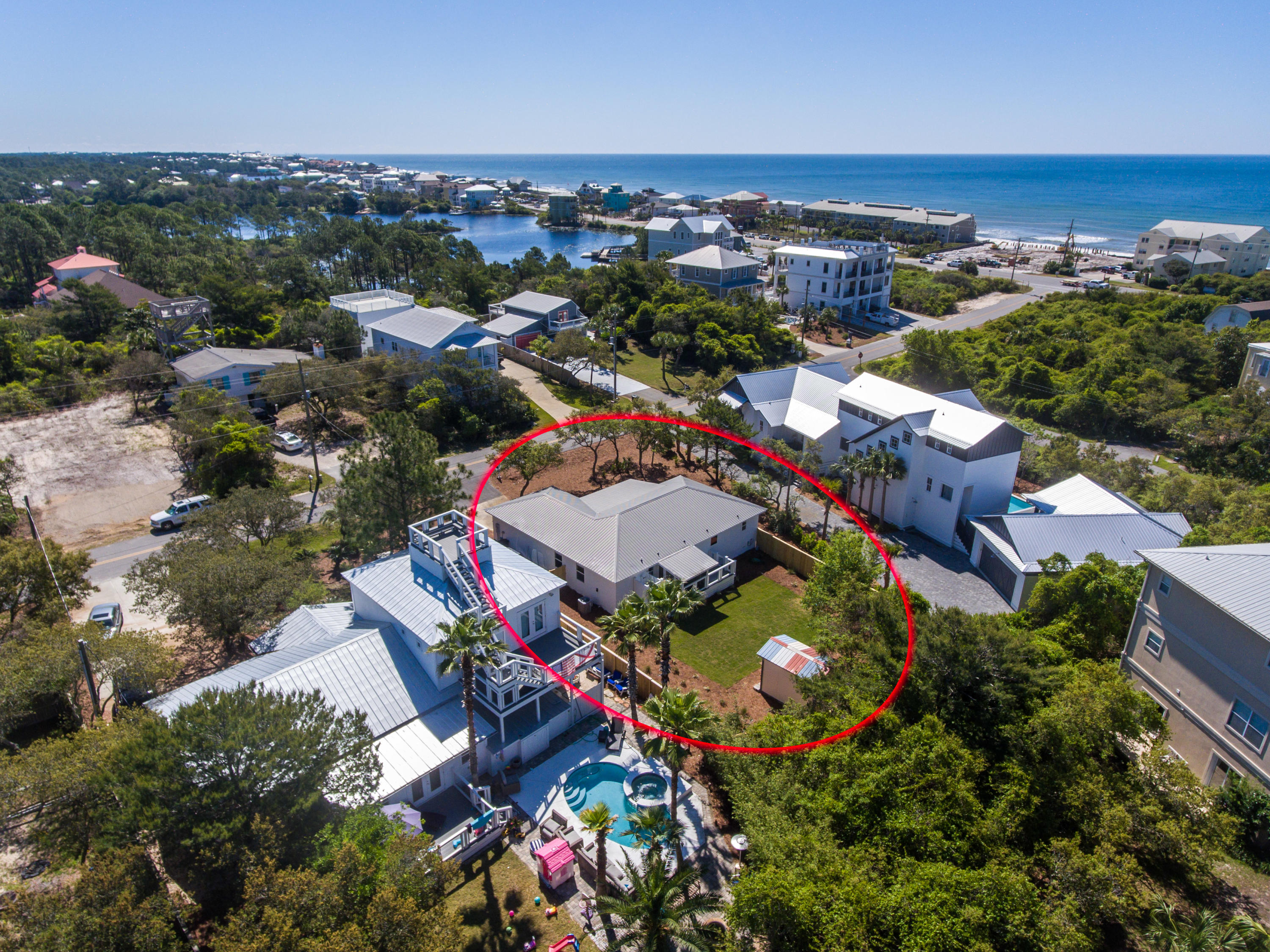 WEST END 30A! ONLY ONE BLOCK OFF THE BEACH WITH NEW ACCESS ACROSS FROM STINKY'S FISH CAMP. This adorable beach cottage on the west end of Scenic Highway 30-A is an ideal retreat for those looking for a wonderful lot with fenced back yard and room to add their own pool and potentially an additional structure as well. This home was completely remodeled in 2019 and offers 2 full bedrooms, 2 full bathrooms, open living/kitchen/dining, laundry room, screened porch in front and back of home as well as a 2 car garage. The opportunities are endless for this one but there is nothing that has to be done for you to come and enjoy it just how it is for years to come. Only 1 mile to Gulf Place/Shunk Gulley, Stinky's Fish Camp just one block away and Santa Rosa Golf and Beach Club is just one mile too!