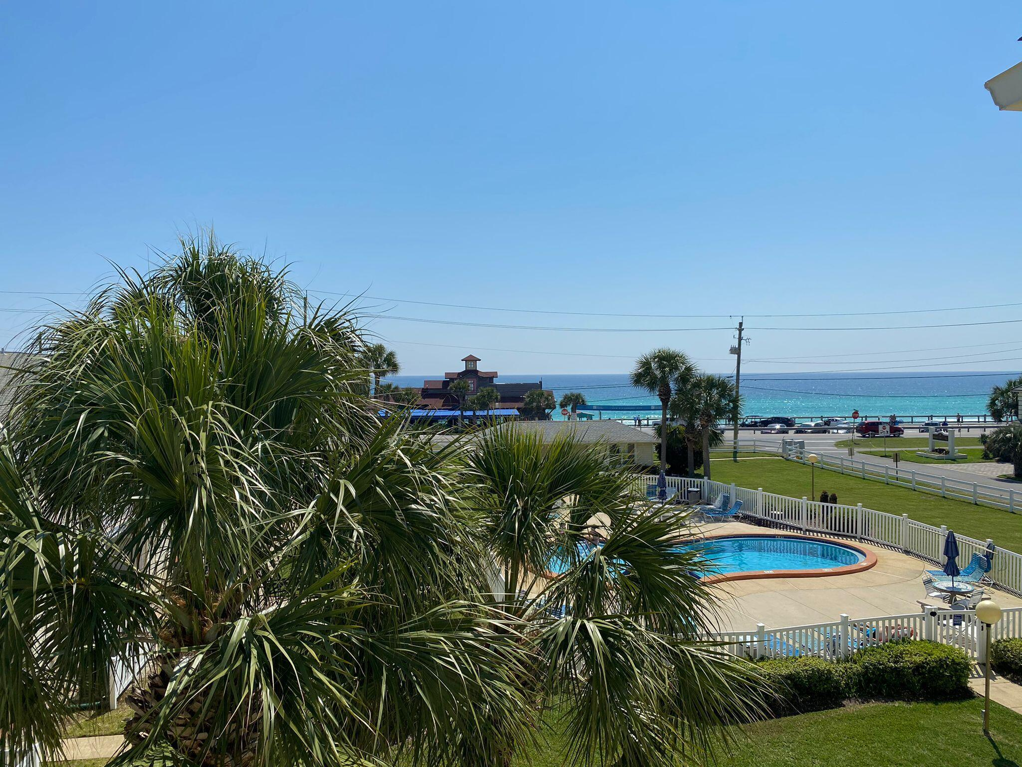 *Please present Highest and Best by Tuesday 6/8 at 5:00 pm* .ATTENTION INVESTORS!  This condo has it all.  Strong gross rental history of 62K just since May 2020 projected to do 70K with current management.  Best location directly across from Pompano Joes. Beach access just a few steps away, This condo was fully renovated in 2020 with beautiful furnishings and everything you need for relaxation and fun.  A few of the highlights that were added include gorgeous wood-look tile flooring throughout,  white quartz counter tops, and custom built bunk beds with a twin over a queen.  A new AC unit was recently installed March 2021.  This is as turn key as it gets whether you are looking for a great rental or fabulous second home.  You really don't want to miss out on this one!