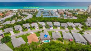 Aerial showing Beach Access and Star on 416 Sandy Cay Drive & Pool