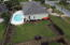 Aerial video of back of the house