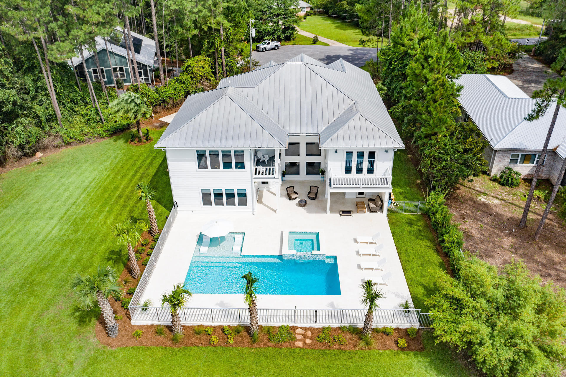 UNDER CONTRACT but Active and taking backup offers. Nestled on Lake Alicia, this charming 5bedrooms|5.5 baths is less than 5 mins to South Walton's 1 of 3 public beach access. Meticulously designed and well maintained your family will fall in love with large bedrooms, ensuite baths and private balconies. Upgrades throughout, lime stone countertops, Jenn-Air appliances, brand new outdoor kitchen. 22,000 gallon pool with 12 person Jacuzzi.