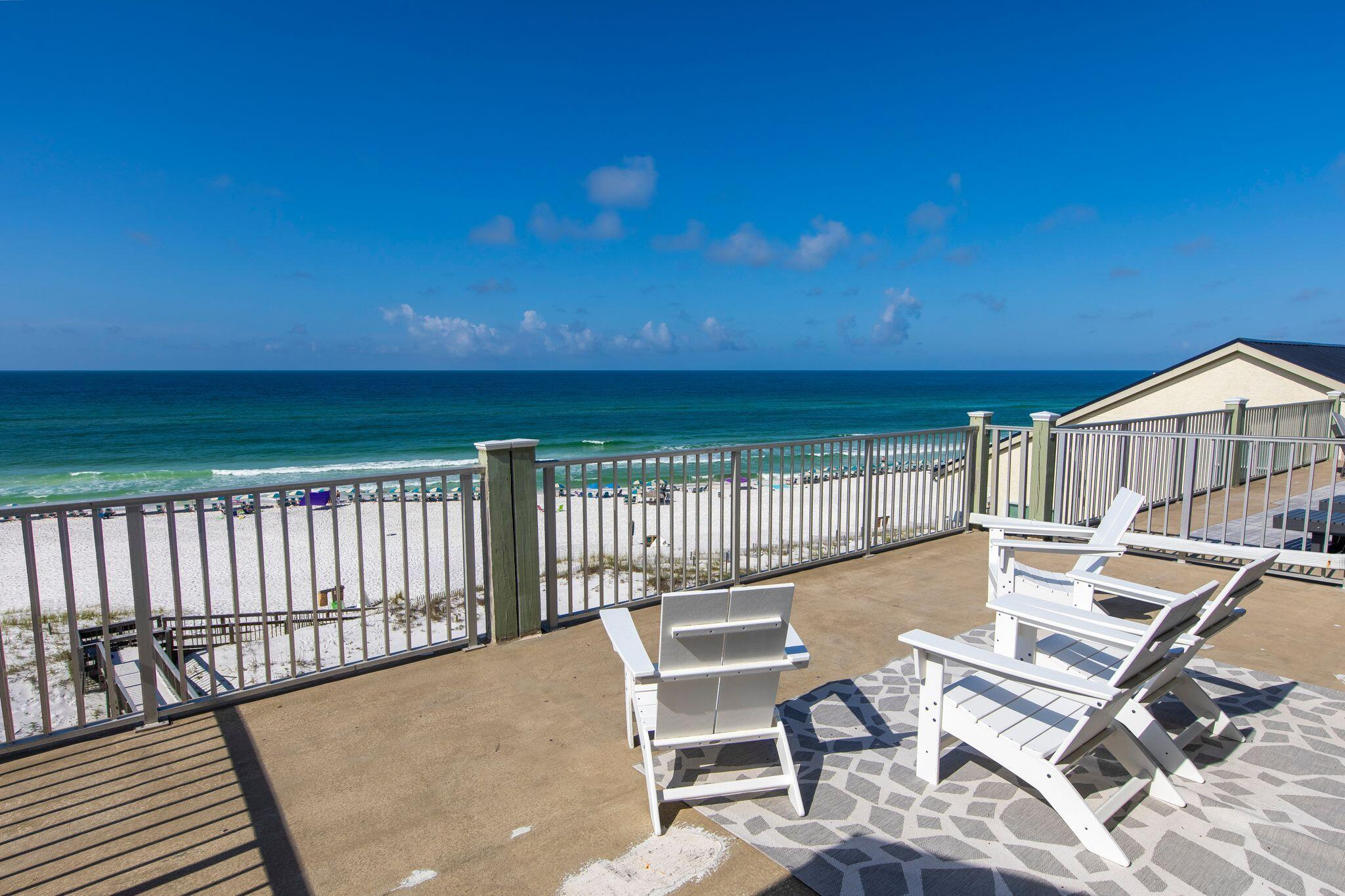 Enjoy endless Gulf views from your 750 sq. ft. private deck! Tucked away in a secluded part of Seagr
