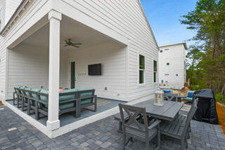 Back patio and porch