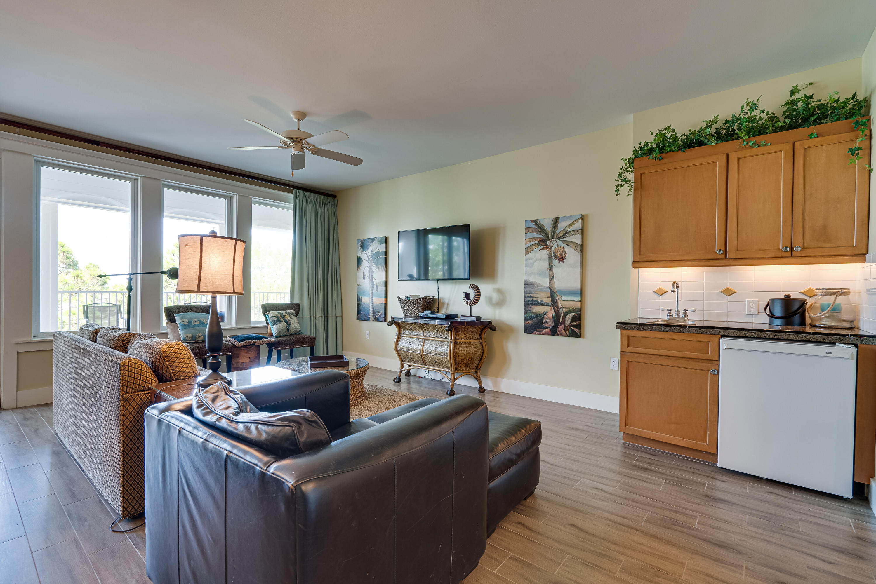 Living Room with Wet Bar